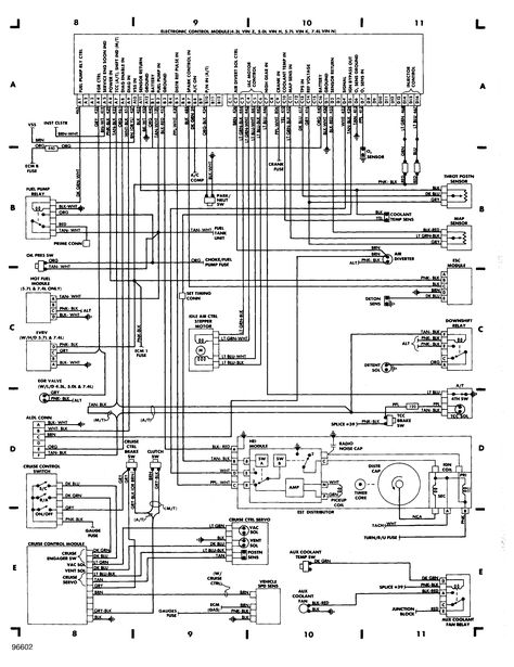 85 Chevy Truck Wiring Diagram | Chevrolet Truck V8 1981-1987 ...