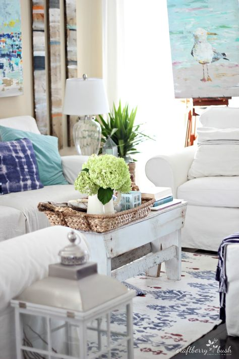 Very cute cottage room! Craftberry Bush: Canadian Bloggers Home Tour 2014