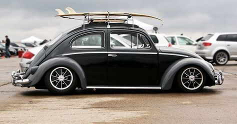 Vw Beetle Slammed On Brm S Two Tone Black Charcoal With Roof