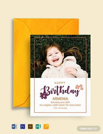 Free Happy Birthday Invitation Template In 2020 Birthday Invitation Templates Printable Birthday Invitations Birthday Invitations