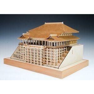 ウッディジョー 1 150 清水寺 本堂 舞台 木製建築模型 組立キット