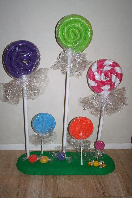 lollipops - large ones made from swimming pool noodles; create stripes ...