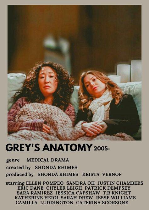 Grey's anatomy polaroid poster Meredith Cristina