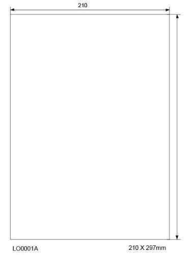 LabelOcean LO-0001A Universal-Etiketten, 210 x 297mm, selbstklebende Etiketten auf DIN A4 Bögen, 100 Blatt = 100 Etiketten, weiß, matt, Papier