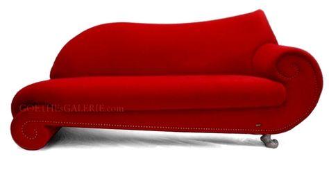 BRETZ Gaudi Recamiere rot Designermöbel Sofa Prunksofa For the - design armsessel schlafcouch flop
