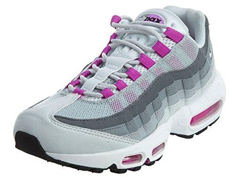 Nike Air Max Run Lite 5 Girls Youth Metallic Silver//Vivid Pink-White Running Sneakers