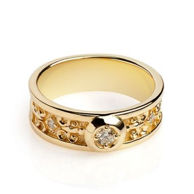 Обручальное кольцо с бриллиантом   Изобилие, богатство   Pinterest ... 034ecd405ea