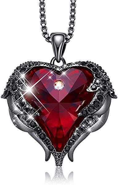 Austrian Crystal Necklace Women/'s Girls Heart Shaped Pendant Silver Xmas Gift