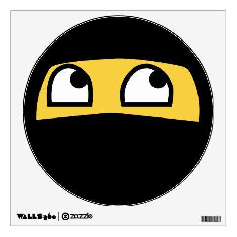 Cute Lil Ninja Emoji Wall Sticker Zazzle Com In 2020 Ninja Emoji Emoji Wall Decals Emoji