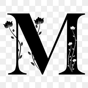 Alphabet Letter M With Ornaments Floral M Letter M Letter Png And Vector With Transparent Background For Free Download Lettering Alphabet Alphabet Illustration Picture Letters