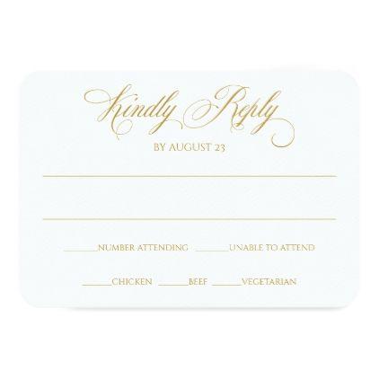 Elegant Rsvp Reply Card Charlene Gold Zazzle Com With