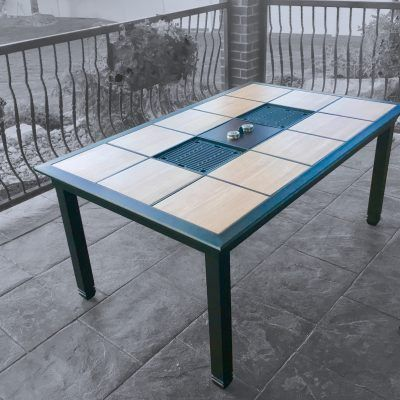 Generations Dual Grill Traditions Life Products In 2020 Grill Table Outdoor Patio Table Patio Table