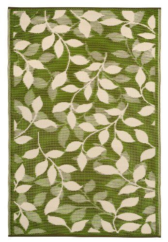 Fab Habitat Bali Indoor Outdoor Rug Forest Green Cream 3 X 5 Fab Habitat In 2020 Green Outdoor Rug Fab Habitat Outdoor Rugs