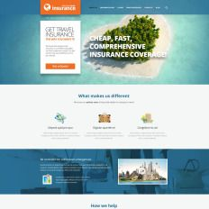 Travel Insurance Provider Bootstrap Wordpress Theme 52441
