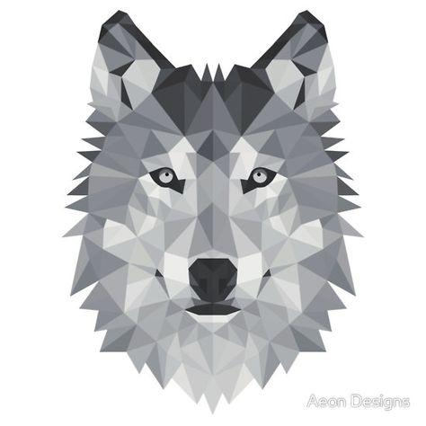 geometric wolf - Google Search