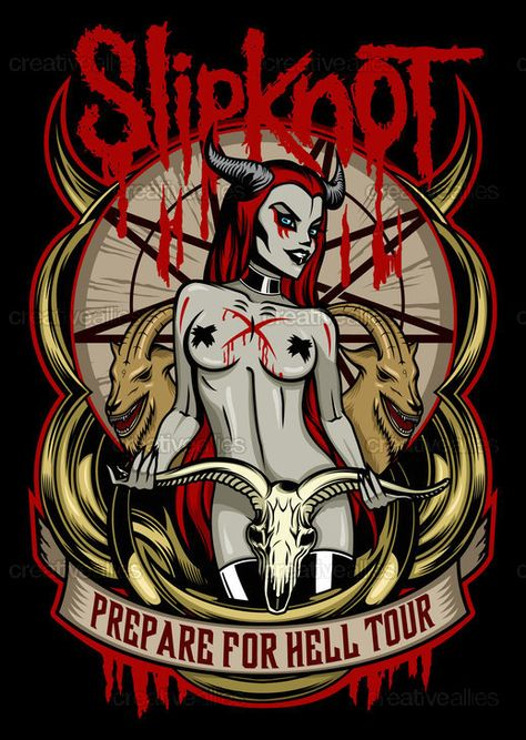 Check out this design by Anna Anomaly for the @Slipknot T-Shirt design contest on Creative Allies!