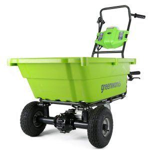 Greenworks Gc40l410 Wheelbarrow Black Friday Deals Garden Cart Garden Wheelbarrow