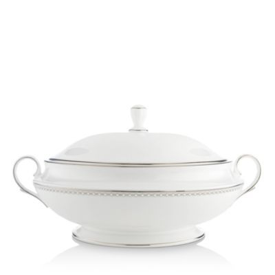 Pearl Platinum Covered Vegetable Bowl Vegetable Bowl Vegetables