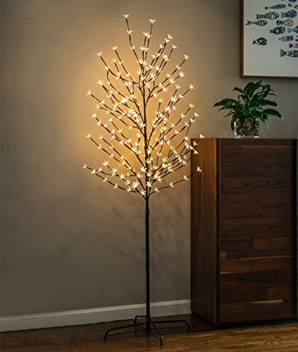 Twinkle Star 6 Feet 208 Led Cherry Blossom Tree Light For Https Amzn To 2r4hrgy Tree Lighting Tree Lamp Outdoor Christmas Decorations