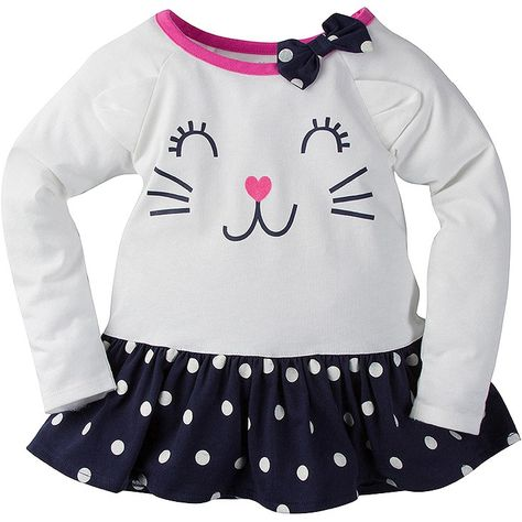 fe4ca7cbc Add another adorable outfit to the mix with this girls' Gerber Graduates long  sleeve tunic! It's lots of fun to pair pieces like this one with other ...
