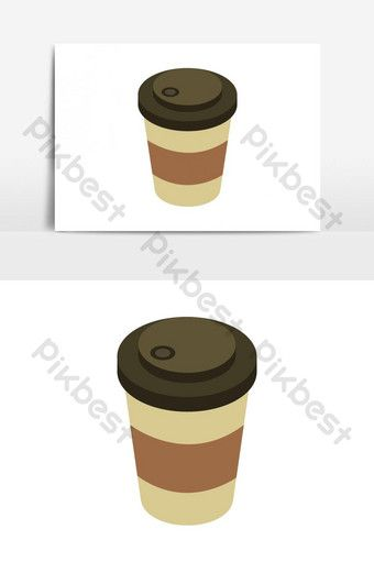 Coffee Cup Illustrated And Colored In Vector On White Background Png Images Eps Free Download Pikbest Coffee Shop Logo White Background Coffee Cups