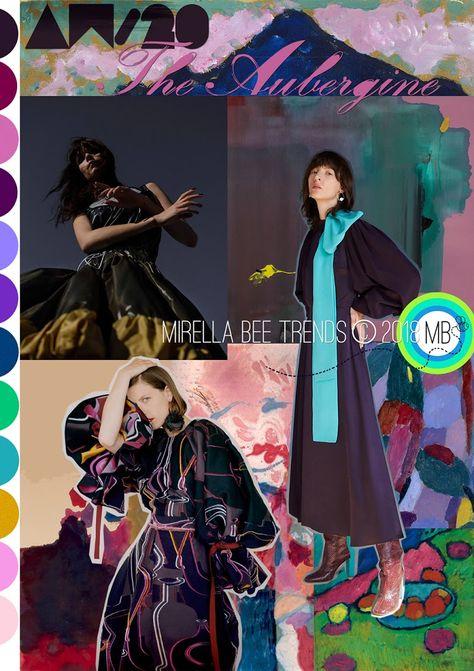 The Aubergine - Mirella Bruno Print Pattern and Trend Designs.