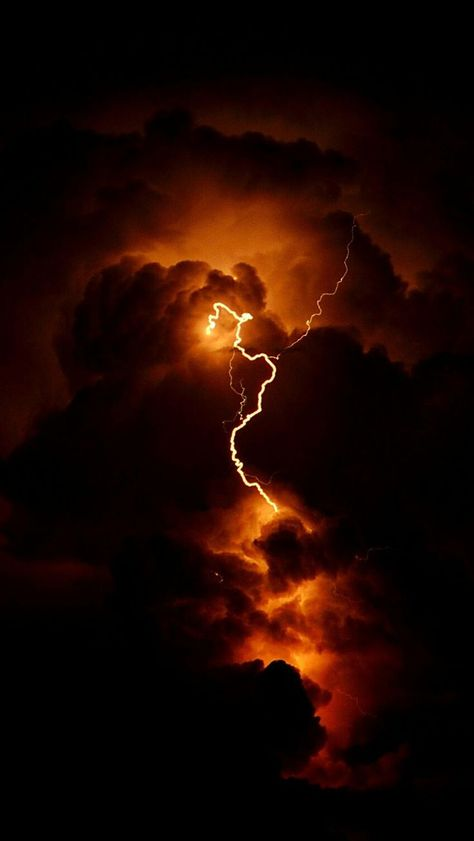 fire sky by Stefano Rubino on red lightning in the clouds night Rainbow Aesthetic, Orange Aesthetic, Sky Aesthetic, Aesthetic Colors, Aesthetic Collage, Aesthetic Photo, Aesthetic Pictures, Aesthetic Grunge, Aesthetic Pastel