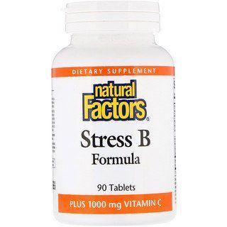 Natural Factors Stress B Formula Plus 1000 Mg Vitamin C 90 Tablets Iherb Vitamins How To Increase Energy Vitamin C