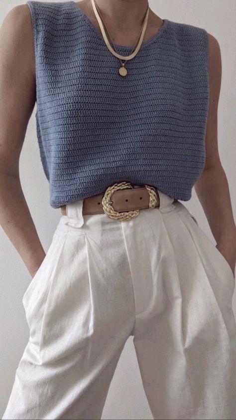 Vintage Knit Blouse Outfit