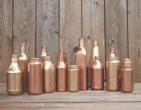 Copper Glam Bottle Decor