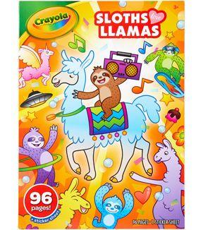 Crayola Coloring Book Sloths Love Llamas Joann Coloring Books Kids Coloring Books Crayola