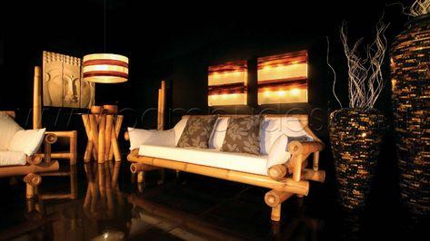 Il Gigante Tavoli Da Giardino.Divano In Bambu Gigante 3 Posti Naturale Suite 200x90 H80 Cm