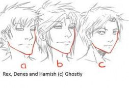 Trendy Drawing Anime Faces Male Comic 64 Ideas Anime Face Shapes Anime Head Anime Male Face
