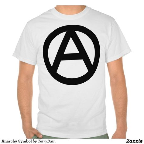 Anarchy Symbol Button Anarchy And Symbols