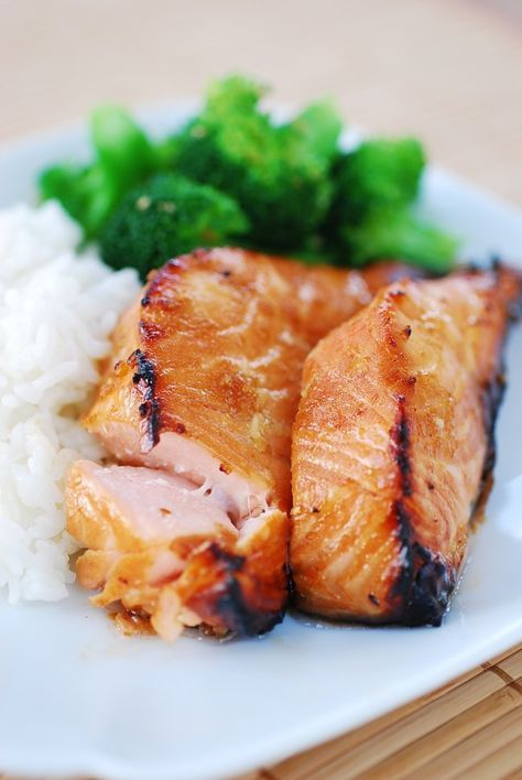 Salmon Bulgogi by koreanbapsang #Salmon #Garlic #Ginger #Soy_Sauce #Lemon #Ginger #Rice_Wine #Healthy