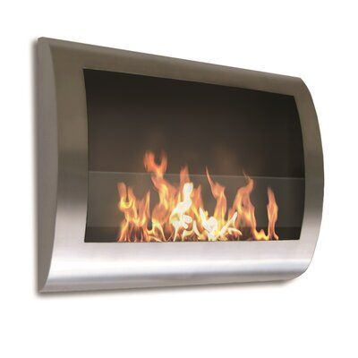 Orren Ellis Crafton Wall Mounted Bio Ethanol Fireplace Wall
