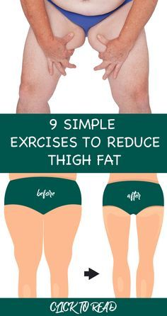 9 Simple & Best Exercises To Reduce Thigh Fat Fast At Home !