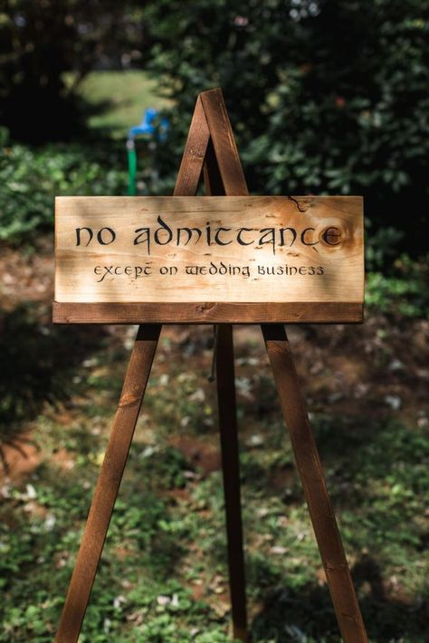 There are so many things I really like in this wedding! The rustic sign holders, cell phone storage, highland games, bucket list ... so many ideas!