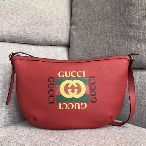7b8d8aa631b9 Discover ideas about Gucci Handbags. February 2019. Gucci Leather Print ...