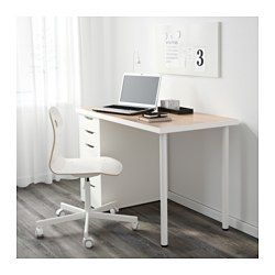 Linnmon Alex Table White White Stained Oak Effect White 47 1 4x23 5 8 Ikea Home Office Decor Affordable Furniture Ikea