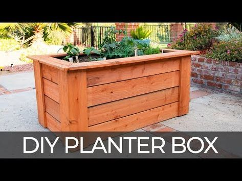 How To Build A Diy Raised Planter Box W Hidden Wheels Free