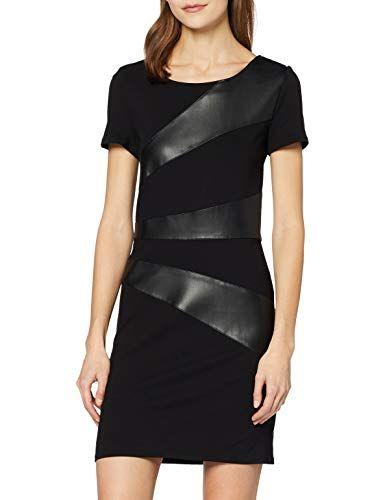 Only Damen Onldinas Faux Leather Dress Otw Partykleid In 2020 Partykleid Hubsche Outfits Kunstleder Kleid