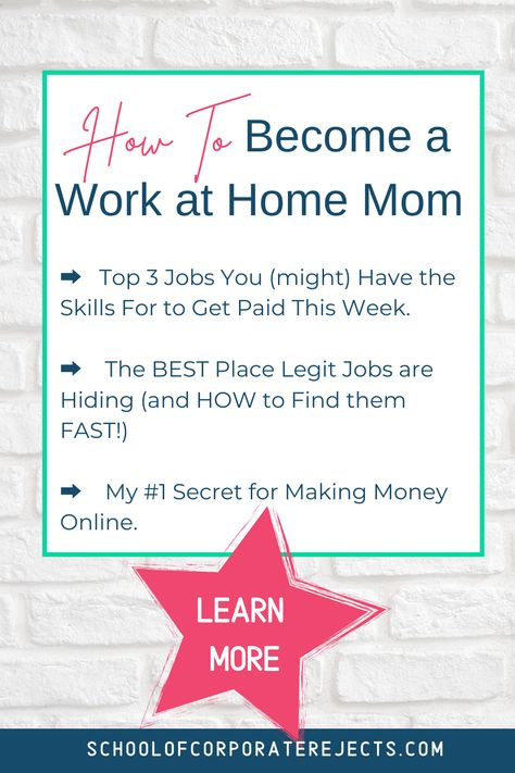 ➡️ Top 3 Jobs You (might) Have the Skills For to Get Paid This Week. ➡️ The BEST Place Legit Jobs are Hiding (and HOW to Find them FAST!) ➡️ My #1 Secret for Making Money Online.