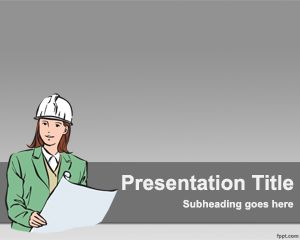 Free Construction Powerpoint Template With Civil Engineer