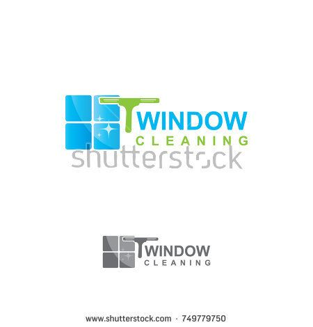 Window Cleaning Logo Buy This Vector On Shutterstock Find Other Images Logo Icon Vector Window Clean Housework I Cleaning Logo Window Cleaner Logos