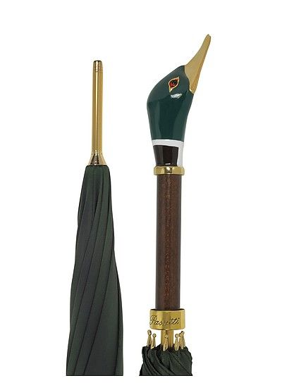 d595d7e9269bc Pasotti Green Men's Umbrella w/Mallard Handle in 2019 ...