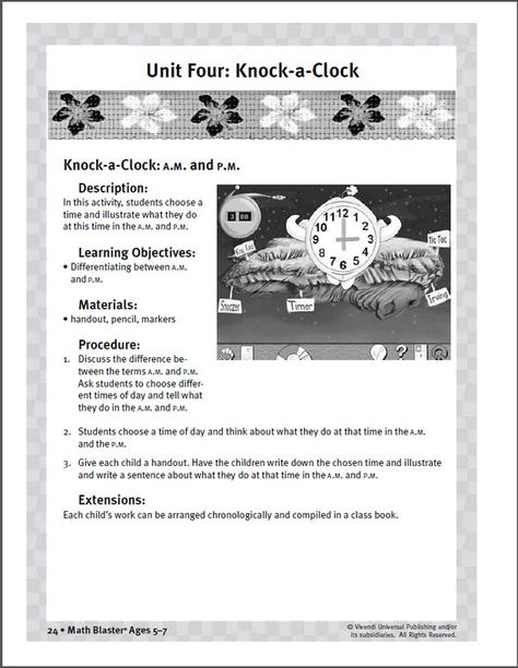 First Grade A M And P M Time Worksheet For Preschoolers Math Blaster Time Worksheets Preschool Worksheets Printable Math Worksheets