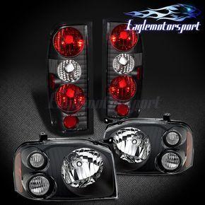black headlamps for 2002 2003 2004 xterra xe headlights left right aftermarket itfip