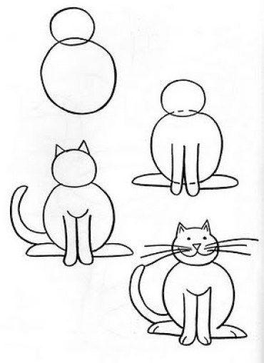 Como Dibujar Facil Un Gato Paso A Paso Como Dibujar Animales Faciles Como Dibujar Animales Como Dibujar Un Gato