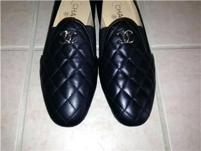 Chanel Shoes For Men Description Black Quilted Leather Loafers